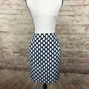 Ann Taylor Loft Pencil Skirt Size 12 Polka Dot